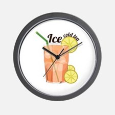 Ice Cold Tea Wall Clock