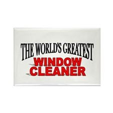 """The World's Greatest Window Cleaner"" Rectangle Ma"