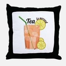 Tea Is Served Throw Pillow