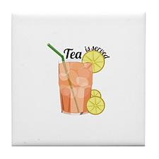 Tea Is Served Tile Coaster