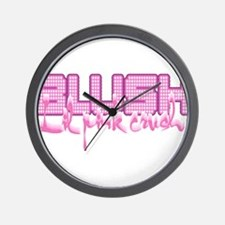Lil pink crush blush.jpg Wall Clock