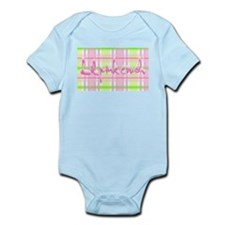 Lil pink crush pink green plaid.jpg Body Suit