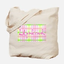 Lil pink crush pink green plaid.jpg Tote Bag