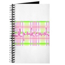 Lil pink crush pink green plaid.jpg Journal