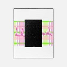 Lil pink crush pink green plaid.jpg Picture Frame