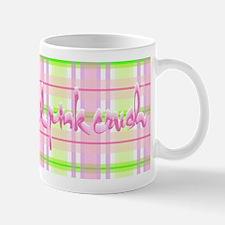Lil pink crush pink green plaid.jpg Mugs