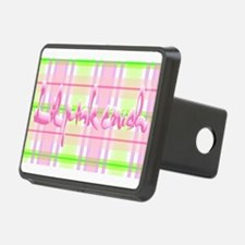 Lil pink crush pink green Hitch Cover