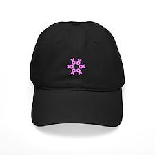 Pink Ribbons Breast Cancer Pugilist Baseball Hat