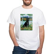 Birches and Black Labrador Retriever Shirt