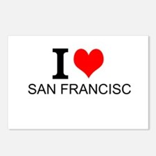 I Love San Francisco Postcards (Package of 8)