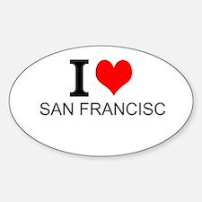 I Love San Francisco Decal