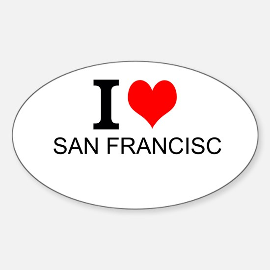 I Love San Francisco Decal