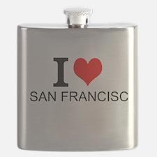 I Love San Francisco Flask