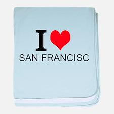 I Love San Francisco baby blanket