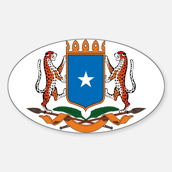 Somalia Coat of Arms Oval Decal