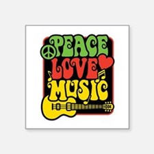 Rasta Peace Love Music Sticker