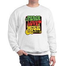 Rasta Peace Love Music Sweatshirt