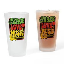 Rasta Peace Love Music Drinking Glass