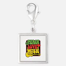 Rasta Peace Love Music Charms