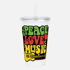 Rasta Peace Love Music Acrylic Double-wall Tumbler
