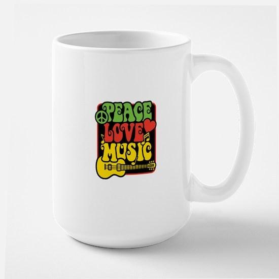 Rasta Peace Love Music Mugs