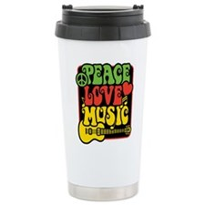 Rasta Peace Love Music Travel Mug