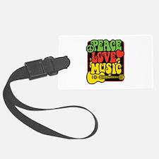 Rasta Peace Love Music Luggage Tag