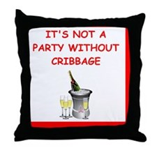 Cute I love cribbage clubs Throw Pillow
