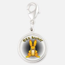 Geo Bunny Orange Text Charms