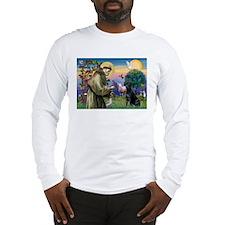 St.Francis & Black Labrador iLg Sleeve T-Shirt