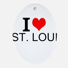 I Love St. Louis Ornament (Oval)