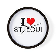 I Love St. Louis Wall Clock