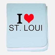 I Love St. Louis baby blanket