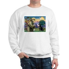 St.Francis & Black Labrador Retriever Sweatshirt