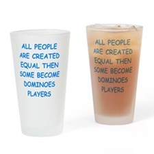 Funny Dominoes Drinking Glass