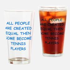 Cute Tennis match Drinking Glass