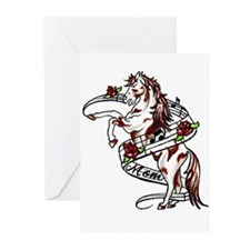 Unique Rose musical Greeting Cards (Pk of 10)