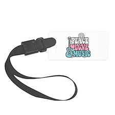 Peace Love Music Luggage Tag