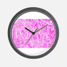 Graffiti Scramble.jpg Wall Clock