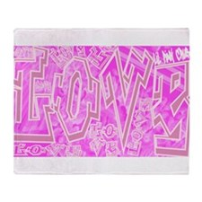 Graffiti Scramble.jpg Throw Blanket