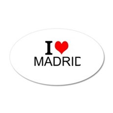 I Love Madrid Wall Decal