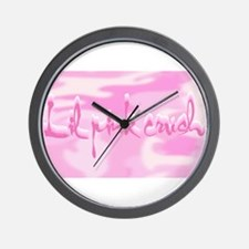 2-Lil Pink Crush Camouflage.jpg Wall Clock