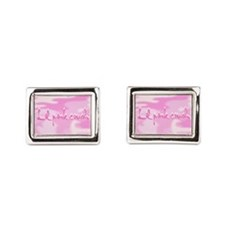 Lil Pink Crush Camouflage.jp Rectangular Cufflinks