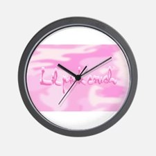 Lil Pink Crush Camouflage.jpg Wall Clock