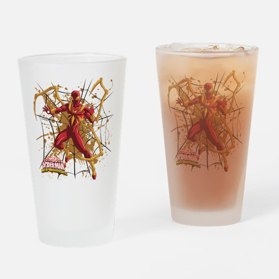 Iron Spider Web Drinking Glass
