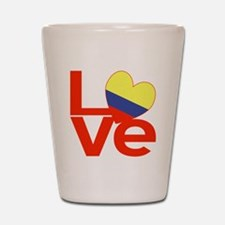 Red Colombia LOVE Shot Glass