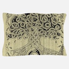 Circle Celtic Tree of Life Ink Pillow Case