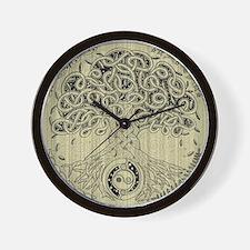 Circle Celtic Tree of Life Ink Wall Clock