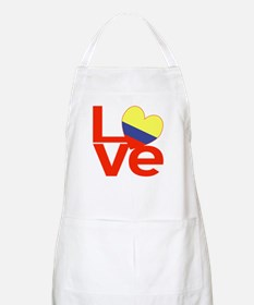 Red Colombia LOVE Apron
