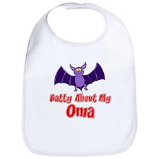 Batty About My Oma Bib